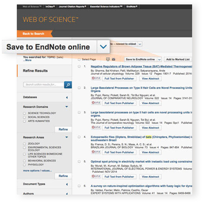 EndNote + Web of Science