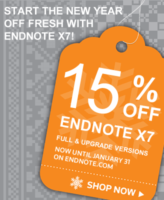 New Year Special - 15% Off EndNote